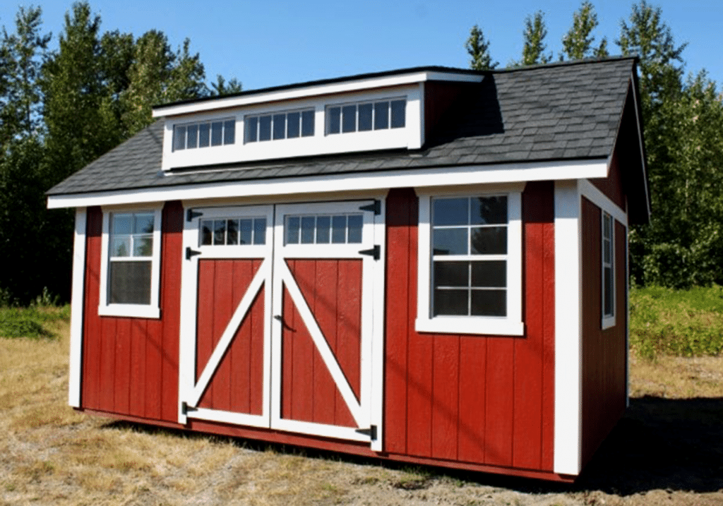 Heritage Portable Buildings | Shed with Dormer | The Shaw Island