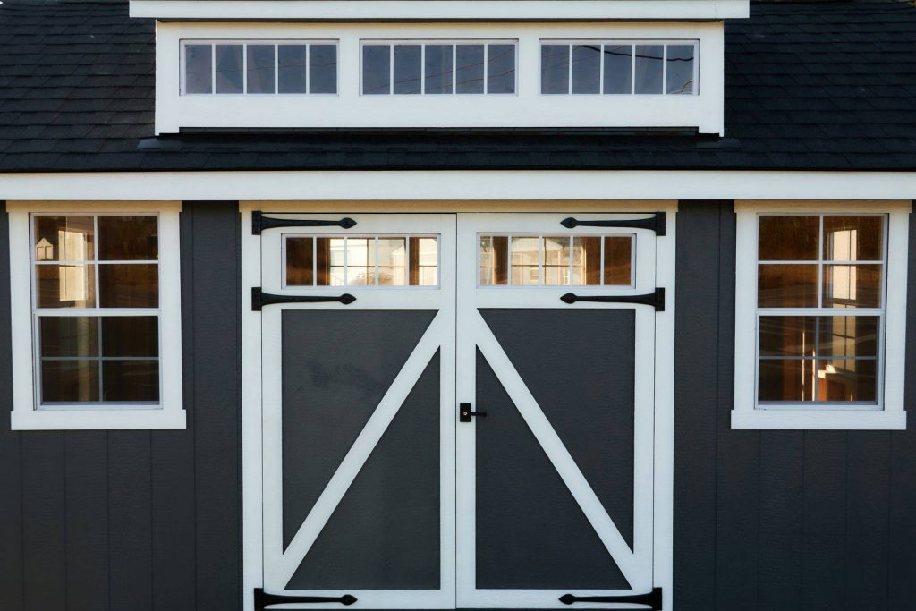 Shed with Double Doors and Dormer | Heritage Portable Buildings | Pacific Northwest