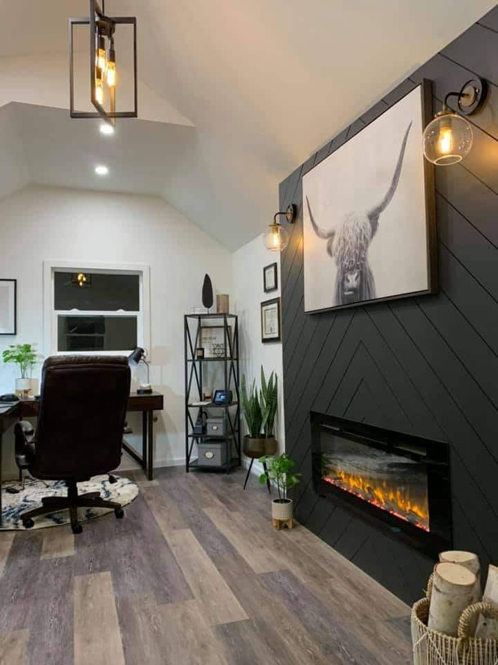 Home Office with Fireplace | Heritage Portable Buildings | Washington