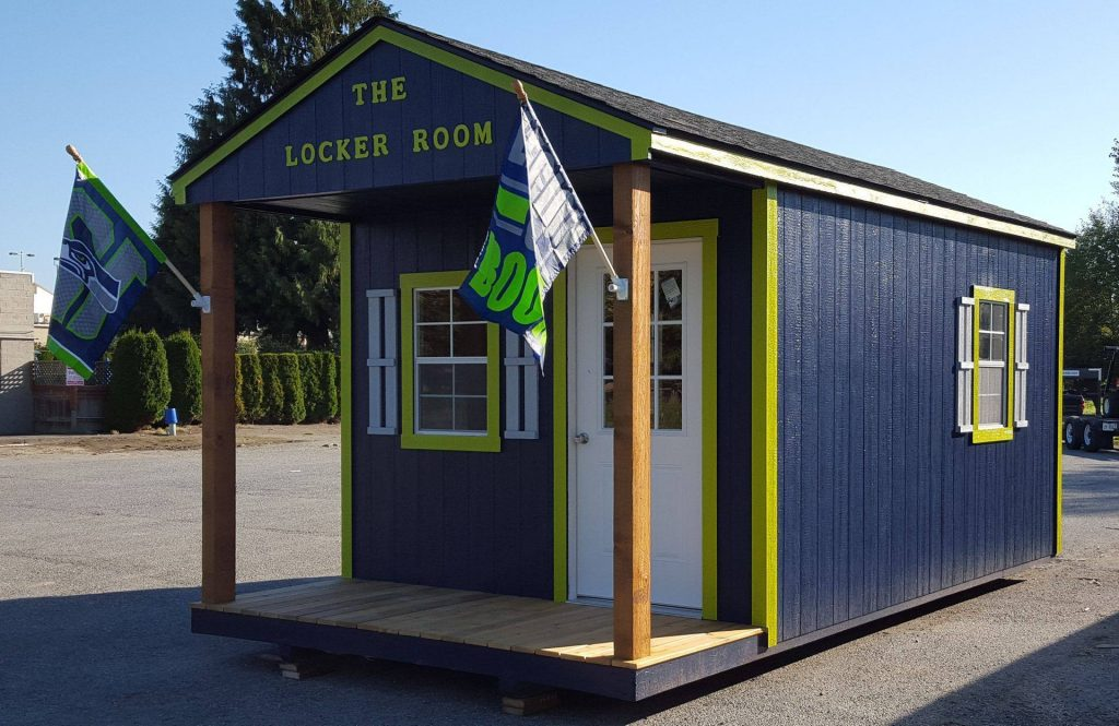 The Locker Room | Blue Cabin | Heritage Portable Buildings | Washington