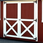 Lofted Storage Shed | Door Styles | Barn| Heritage Portable