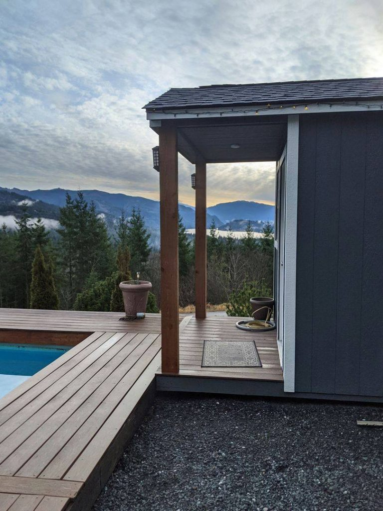 Poolside cabin | Heritage Portable Buildings | Orcas Island | Washington
