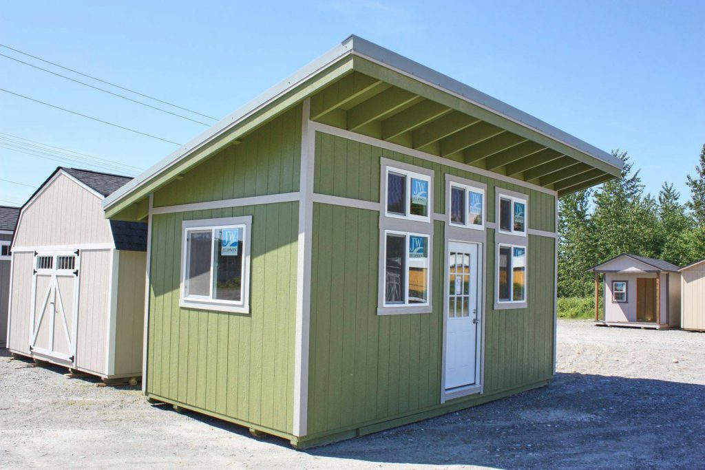 Green Shed with Dormer | Heritage Portable Buildings