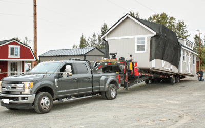 How Your Portable Shed Gets Delivered in the Winter
