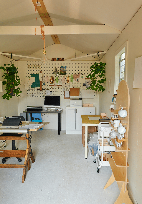 Heritage Portable Buildings | Art Studio | Portable Building with Porch | Illustrator