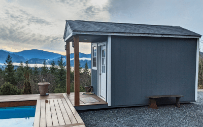 How to Create a Delightful Pool House using a Heritage Pre-Built Shed