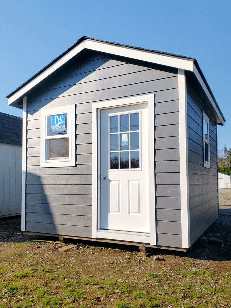 Heritage Portable Buildings | Pre-Built Shed | Gray Shed | Washington